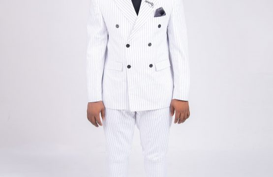 Israel Dia Custom 2 piece double breasted stripped suits.